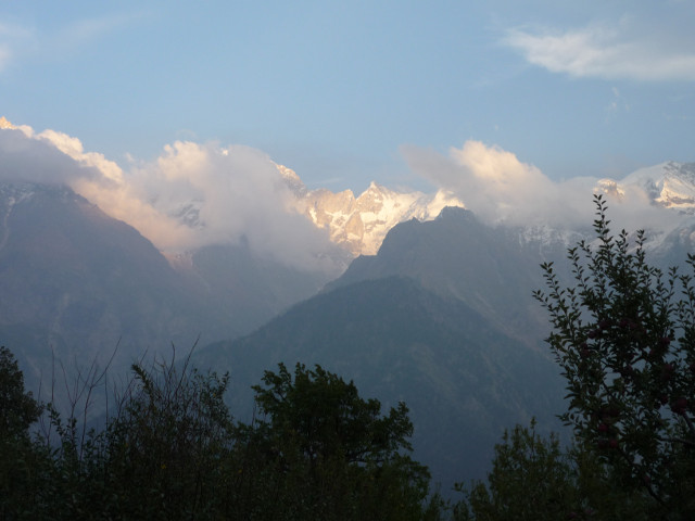 Mountain Ranges seen from Kalpa
