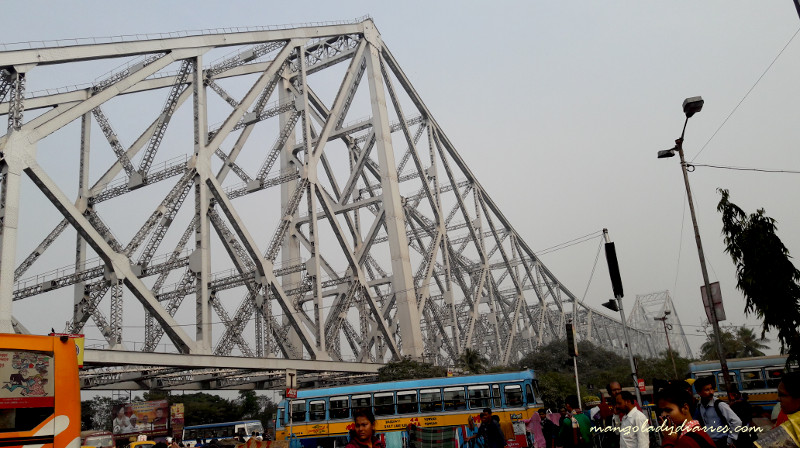 The famous Howrah Bridge