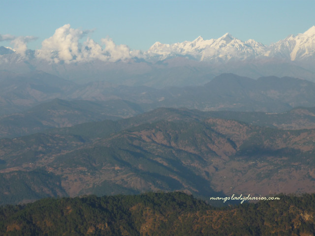 The view of the Himalayas from Zero Point; It offers a panoramic view.