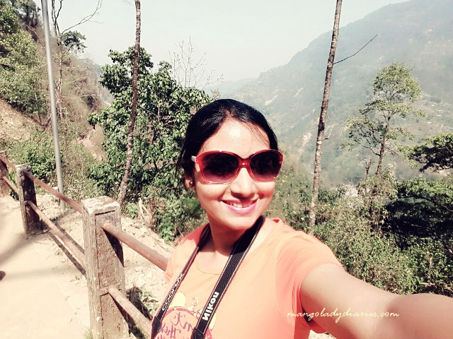 Selfie while relaxing on the way back to the hill top