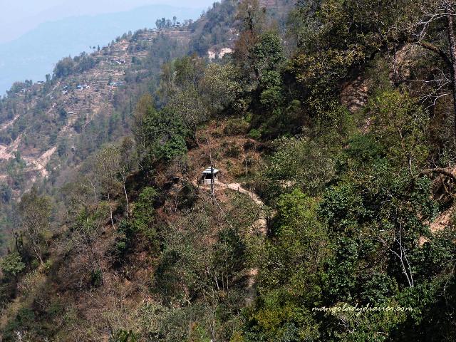 The steep trail