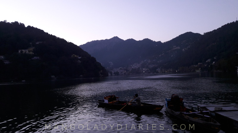 Nainital Lake after sunset