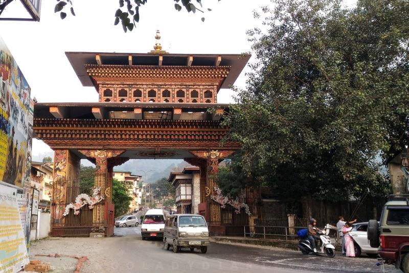 Bhutan Gate from India