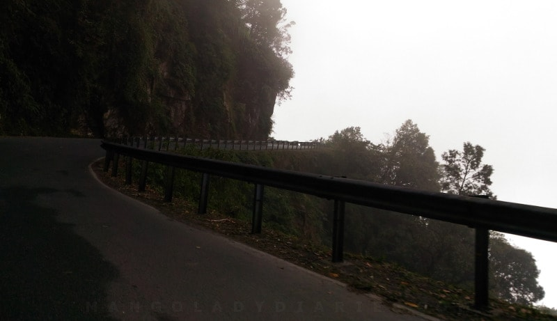 Driving through mist