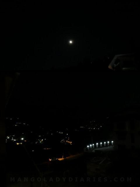Night view in Thimphu