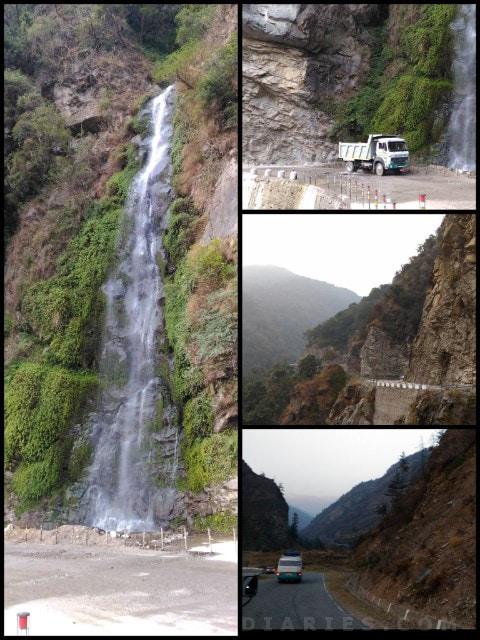 Waterfall towards Thimphu